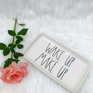 New Rae Dunn WAKE UP Make Up Tray